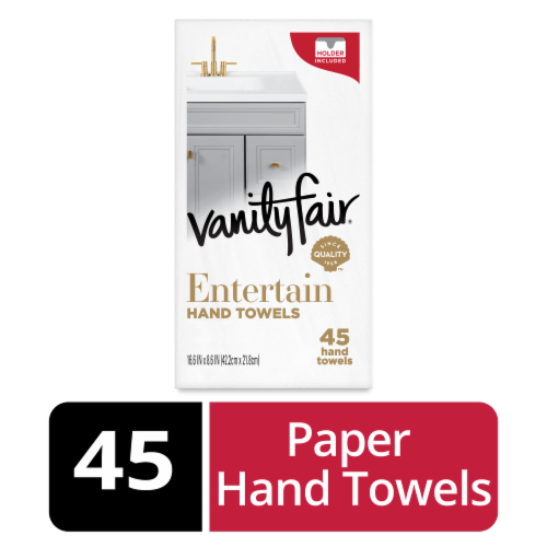 Vanity Fair Entertain Disposable Hand Towel Napkins Perspective: front