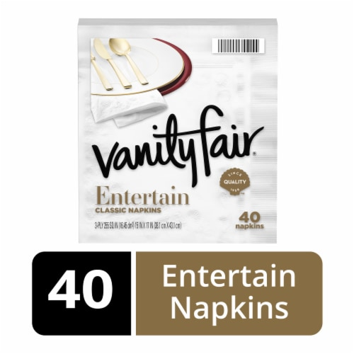 Vanity Fair Entertain Classic Napkins - White Perspective: front