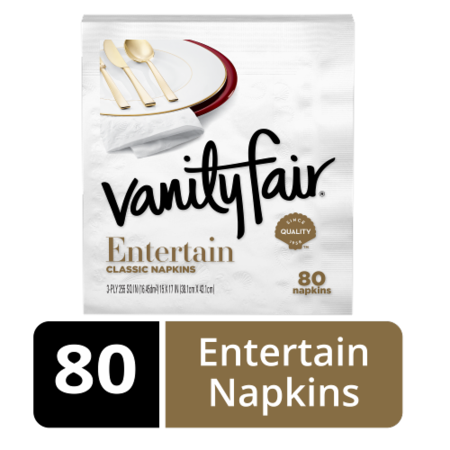Vanity Fair Impressions White Napkins Perspective: front