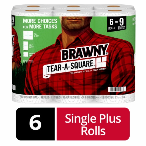 Brawny Tear-A-Square Paper Towels Perspective: front