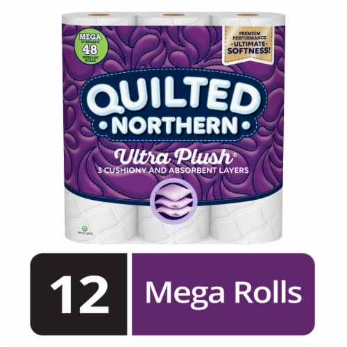 Quilted Northern Ultra Plush Mega Toilet Paper 12 Rolls Perspective: front