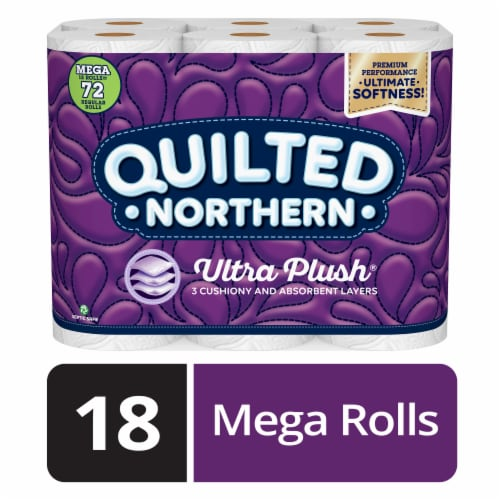 Quilted Northern Ultra Plush Mega Roll Bath Tissue Perspective: front