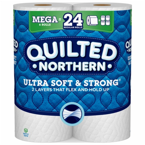 Quilted Northern Ultra Soft & Strong Mega Roll Bath Tissue Perspective: front