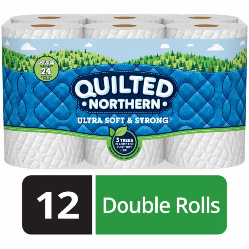 Quilted Northern Ultra Soft and Strong Bath Tissue Perspective: front