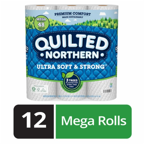 Quilted Northern Ultra Soft & Strong Mega Toilet Paper Perspective: front