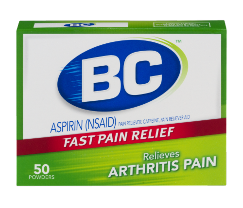 BC Arthritis Fast Pain Reliever Powders Perspective: front
