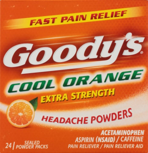 Goody's Cool Orange Headache Powders 24 Count Perspective: front
