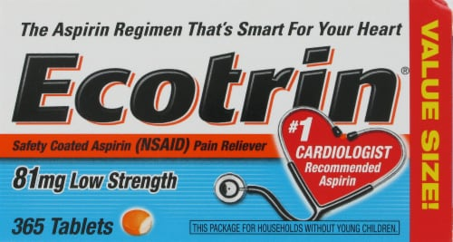 Ecotrin Low-Strength Tablets Perspective: front