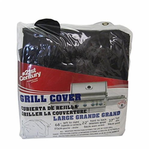 21St Century Product B44A1 Heavy Duty Vinyl Grill Cover - 68 x 21 x 37 in. Perspective: front