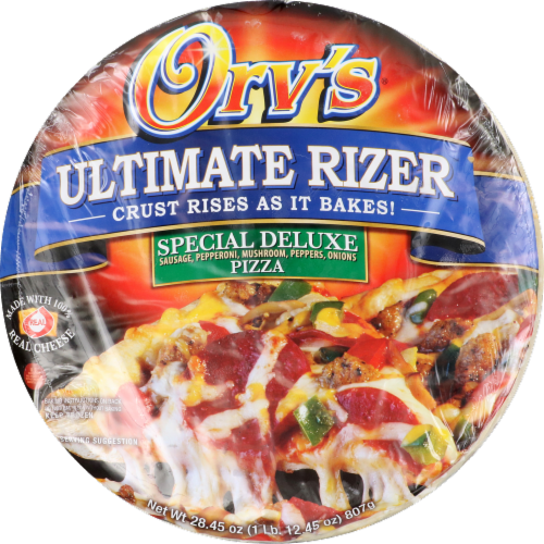 Orv's Ultimate Rizer Special Deluxe Pizza Perspective: front