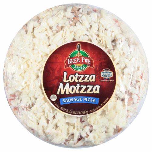 Brew Pub Pizza Lotzza Motzza Sausage Frozen Pizza Perspective: front