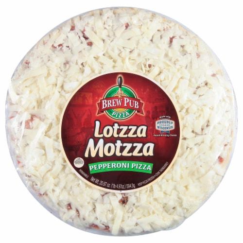 Brew Pub Pizza Lotzza Motzza Pepperoni Frozen Pizza Perspective: front