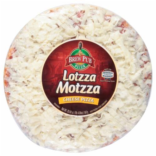 Brew Pub Pizza Lotzza Motzza Cheese Pizza Perspective: front