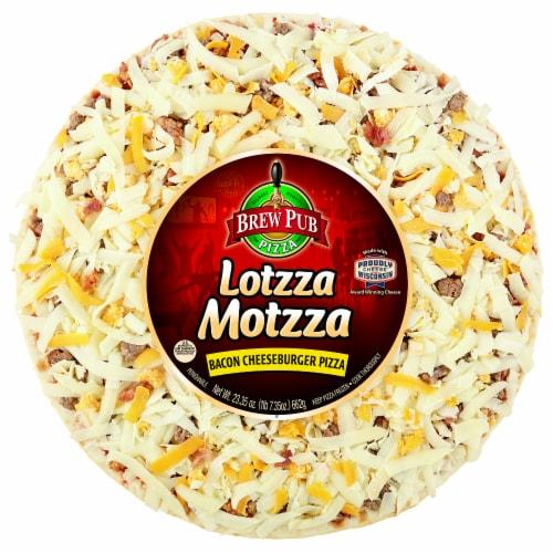 Brew Pub Lotzza Motzza Bacon Cheeseburger Frozen Pizza Perspective: front
