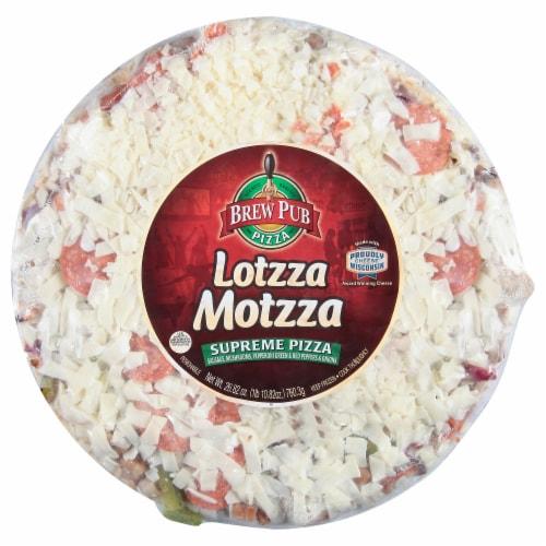 Brew Pub Pizza Lotzza Motzza Supreme Frozen Pizza Perspective: front