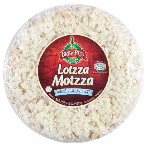 Brew Pub Pizza Lotzza Motzza Chicken Alfredo Frozen Pizza Perspective: front