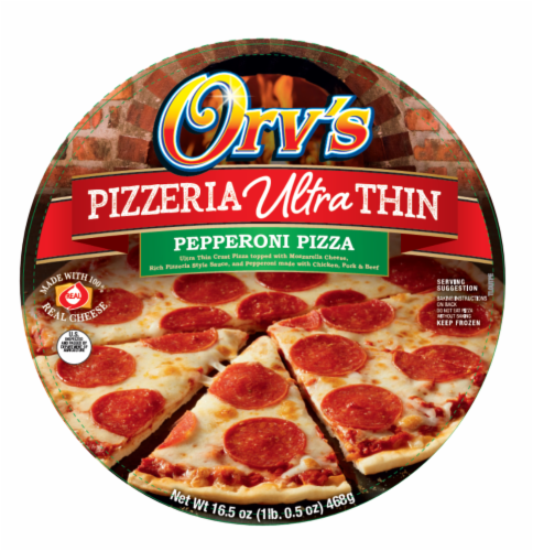 Orv's Pizzeria Ultra-Thin Pepperoni Frozen Pizza Perspective: front