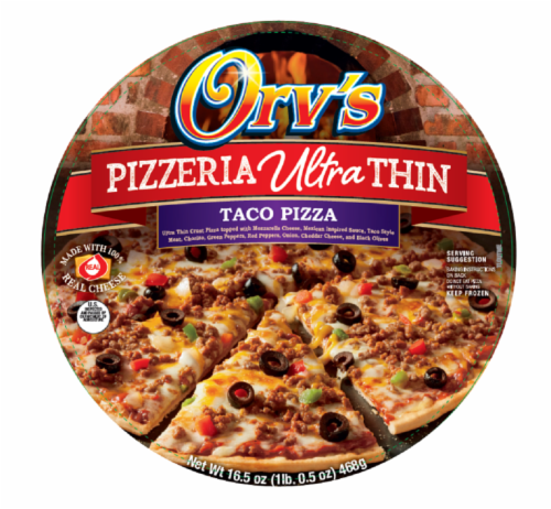 Orv's Pizzeria Ultra-Thin Taco Frozen Pizza Perspective: front