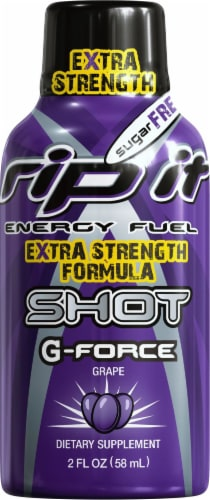 Rip It Energy G-Force Grape Extra Strength Energy Drink Shot Perspective: front