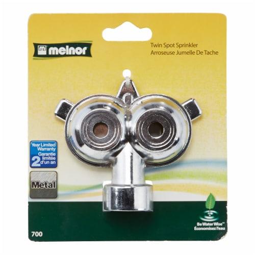 Melnor Metal Twin Spot Sprinkler Perspective: front