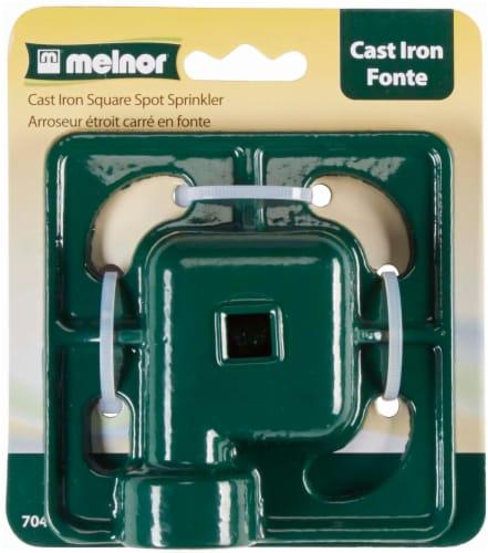 Melnor Cast Iron Square Spot Sprinkler Perspective: front