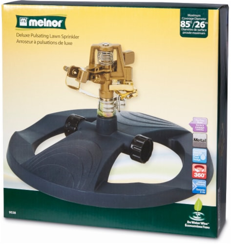 Melnor Metal Pulsating Sprinkler with Weighted Base Perspective: front