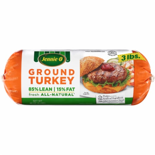 Jennie-O 85% Lean Ground Turkey Roll Perspective: front