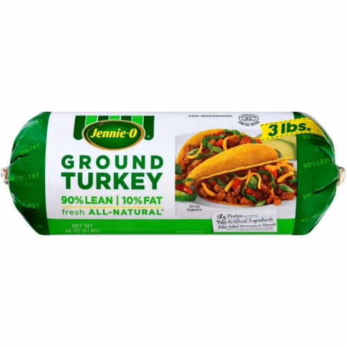 Jennie-O 90% Lean Ground Turkey Roll Perspective: front