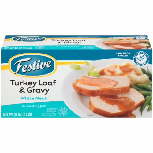 Festive White Meat Turkey Loaf & Gravy Perspective: front