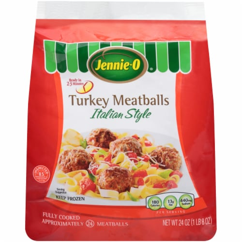 Jennie-O Italian Style Turkey Meatballs Frozen Side Perspective: front