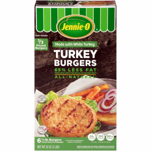 Jennie-O All Natural Turkey Burgers 6 Count Perspective: front
