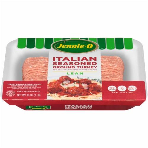 Jennie-O Italian Seasoned Ground Lean Turkey Perspective: front