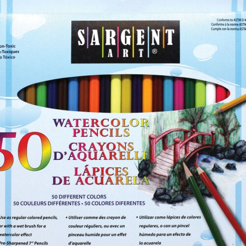 Sargent Art SA227273 Watercolor Pencils - Pack of 50 Perspective: front