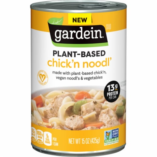 Gardein Vegan Plant-Based Chick'n Noodl' Soup Perspective: front
