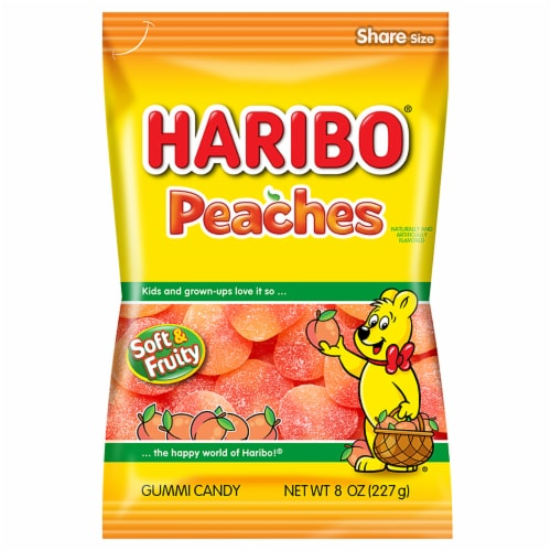 Haribo Peaches Gummi Candy Perspective: front