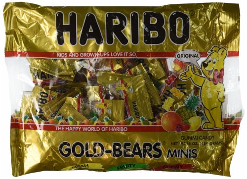 Haribo Gold-Bears Minis Perspective: front