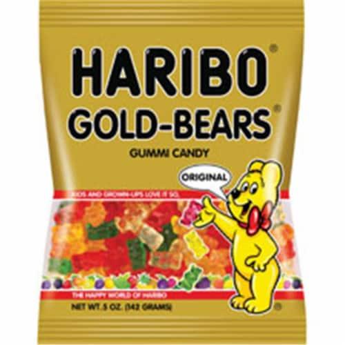 Haribo Golden Gummi Bears, 5 oz. bag (12 count) Perspective: front