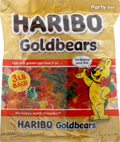 Haribo Gold-Bears Gummi Candy Perspective: front