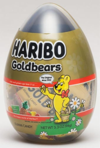 Haribo Goldbears Egg Gummy Candy Perspective: front