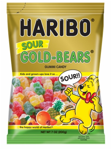 Haribo Sour Gold-Bears Candy Perspective: front