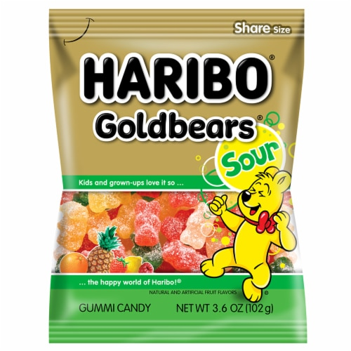 Haribo Goldbears Sour Gummi Candy Perspective: front