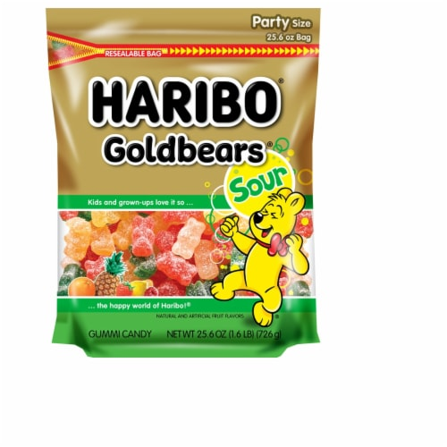 Haribo Sour Gold-Bears Gummi Candy Perspective: front