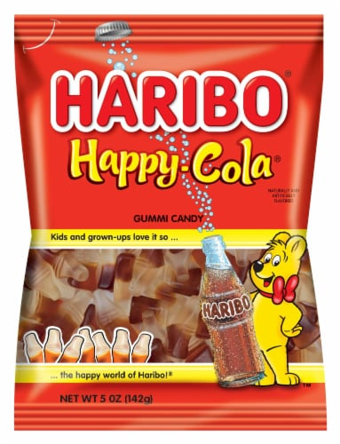 Haribo Gummi Candy, Happy Cola, 5 oz. Bags (12 count) Perspective: front