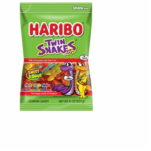 Haribo Twin Snakes Sweet & Sour Gummi Candy Perspective: front