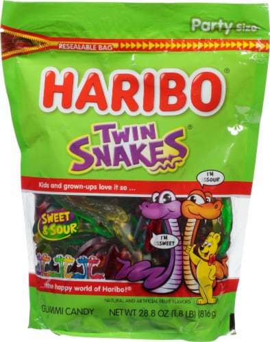 Haribo Twin Snakes Gummi Candy Perspective: front