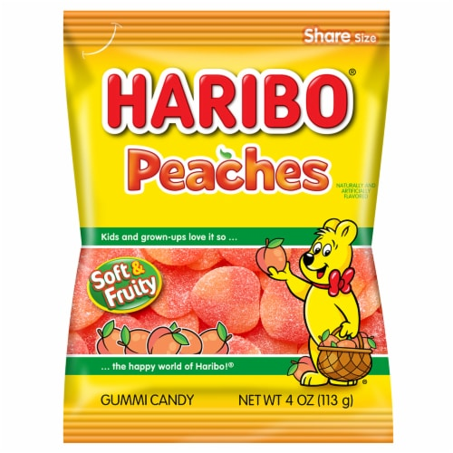 Haribo Confectionery Peaches Perspective: front