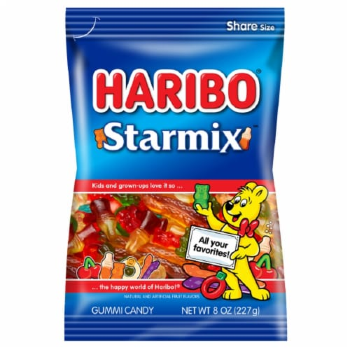 Haribo Starmix Gummy Candy Perspective: front