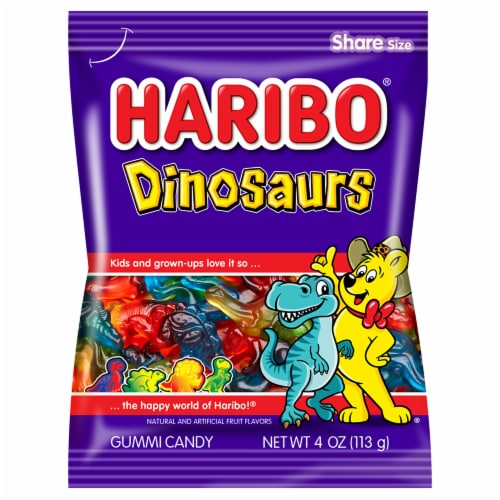 Haribo Confectionery Dinosaurs Perspective: front