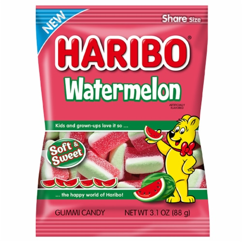 Haribo Watermelon Soft & Sweet Gummi Candy Perspective: front