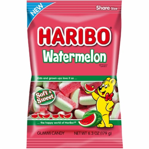 Haribo Watermelon Gummi Candy Share Size Perspective: front